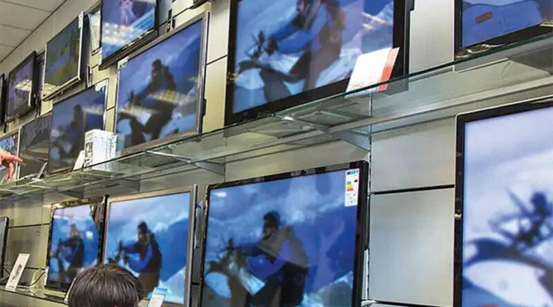 Television imports confined by India,