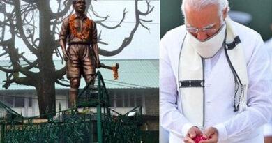 Modi paid tribute