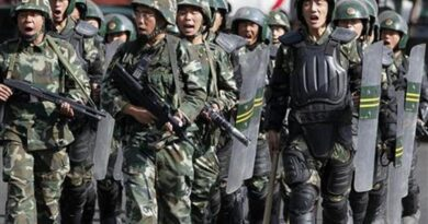 Attitude of the Chinese army