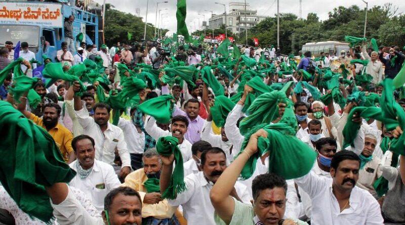 Farmers protest in Hubli