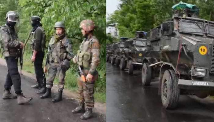 Security forces surrounded four terrorists in Shopian, search operation in Pulwama