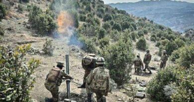 Pakistani army fired mortar
