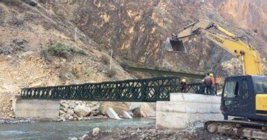 Army built a bridge over t