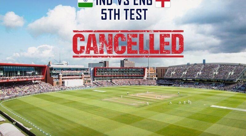 Fifth test match canceled,